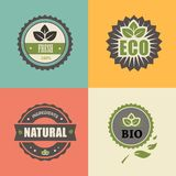 BIO stamp; ECO, ORGANIC Labels Collection. Royalty Free Stock Photos