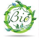 Bio Sticker Royalty Free Stock Images