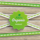 Bio Sticker Lines 100 Organic Wood Stock Images