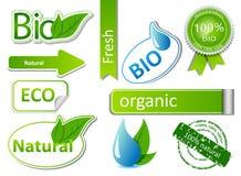 Bio sticker set Stock Images