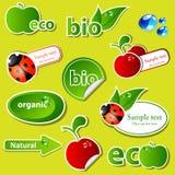 Bio sticker set Royalty Free Stock Photography
