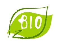 Bio sticker on white background. Bio sticker, vector illustration for graphic and web design Stock Image