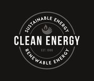 Bio sustainable energy white on black. Is a illustration for any use royalty free illustration