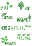 Bio symbols drawing for healthy products Royalty Free Stock Image