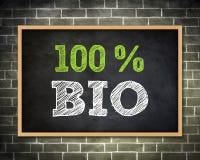 BIO - Tafelkonzept Lizenzfreie Stockfotos