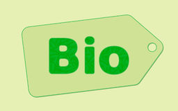 Bio tag concept Royalty Free Stock Images