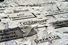 Bio technology grunge concept Stock Images