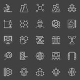 Bio technology linear icons Royalty Free Stock Image