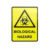 bio tecken för fara 3d Arkivfoto