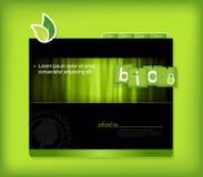 bio teckenmallwebsite Arkivfoton