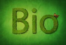 Bio texte Images stock