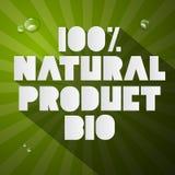 Bio titel för hundra procent naturprodukt Arkivbild