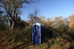 Bio toilet. In woods restroom Stock Photography
