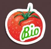 Bio tomato tag Stock Photography
