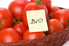 Bio tomatoes Stock Photos