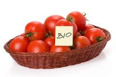 Bio tomatoes Stock Photography