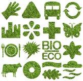 Bio- u. Ökologieikonenset Lizenzfreies Stockfoto