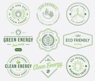 Bio- und Eco-Energie 1 gefärbt Stockfotografie