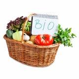 Bio Vegetables Basket Isolated Stock Photos