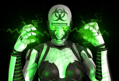 Bio warfare soldier Royalty Free Stock Photo