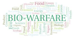 Bio-Warfare word cloud. Wordcloud made with text only royalty free illustration