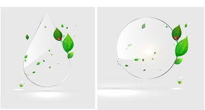 Bio water drop concept design eco Royalty Free Stock Photos