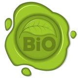 Bio wax seal. On white background. EPS 8 vector illustration vector illustration