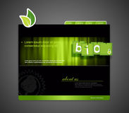 Bio websitemalplaatje Stock Afbeelding