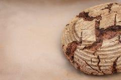 Bio whole grain rye bread stock image