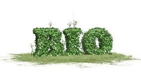 Bio - word from ivy plan Stock Image