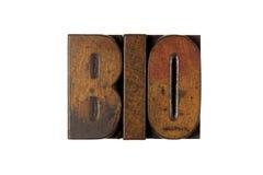 Bio. The word BIO written in vintage letterpress type Stock Images