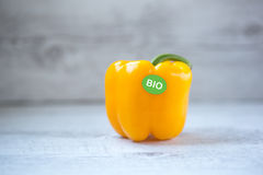Bio yellow bell pepper Royalty Free Stock Photo