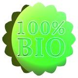 Bioaufkleber oder Ausweis Stockbilder