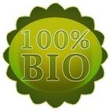 Bioaufkleber oder Ausweis Stockfotos