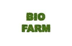 Biobauernhofgrastext Stockbild