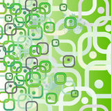 Biocellen als vierkanten Naadloos abstract patroon Vector illustratie Stock Afbeelding