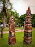 Biocentro Guembe Mariposario semesterort i Santa Cruz Bolivia Arkivfoto