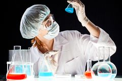 Biochemical investigation Stock Images
