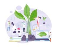 Biochemical laboratory vector. Group of scientists in the scientific biochemical laboratory. Vector illustration stock illustration