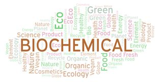 Biochemical word cloud. Wordcloud made with text only royalty free illustration
