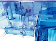 Biochemiczny analyzer. Laborancki wyposażenie. zdjęcia stock