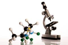 Biochemie en atoom royalty-vrije stock afbeeldingen