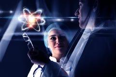Biochemie en technologieën Gemengde media royalty-vrije stock afbeeldingen
