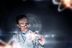 Biochemie en technologieën Gemengde media stock fotografie