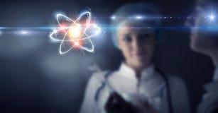 Biochemie en technologieën Gemengde media stock foto's