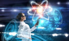 Biochemie en technologieën Gemengde media stock foto