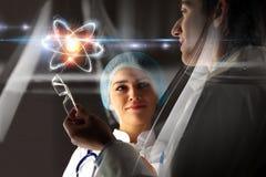 Biochemie en technologieën Gemengde media royalty-vrije stock afbeelding