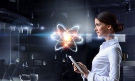 Biochemie en technologieën Gemengde media royalty-vrije stock foto