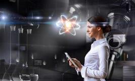 Biochemie en technologieën Gemengde media stock afbeelding