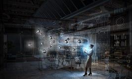 Biochemie en technologieën Gemengde media royalty-vrije stock foto's